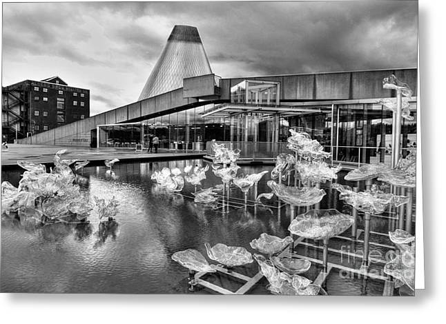 Glass Museum In Bw Greeting Card by Ken Andersen