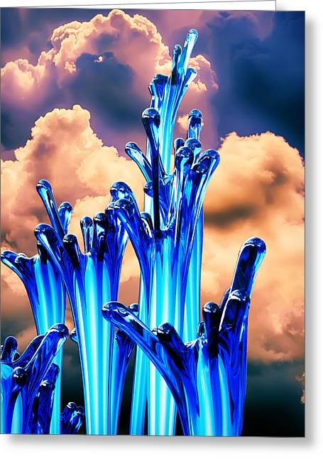 Chihuly Blues Greeting Card
