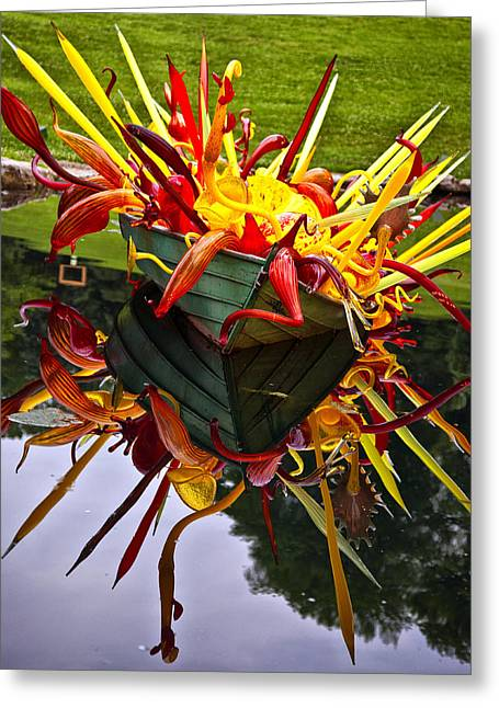 Chihuly Float Greeting Card by Diana Powell