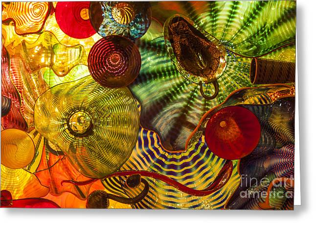 Chihuly Glass 3 Greeting Card