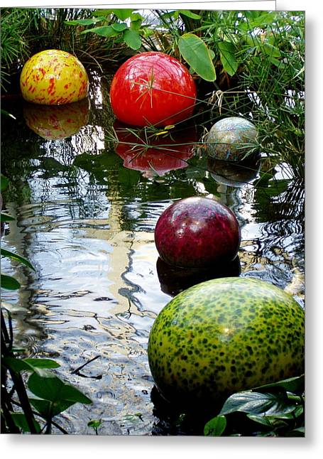 Chihuly Globes Greeting Card