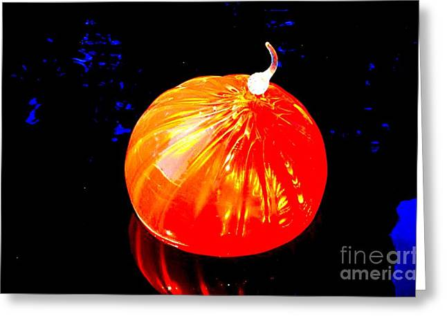 Chihuly Orange Blown Glass Greeting Card