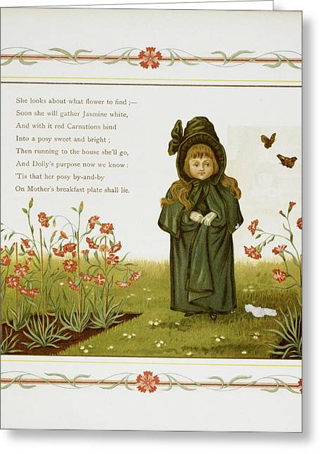 Child Among Flowers Greeting Card by British Library