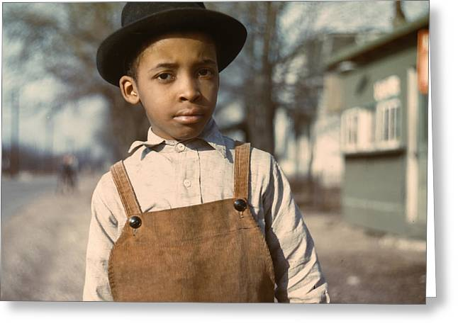 Child In Cincinnati 1939 Greeting Card by Mountain Dreams