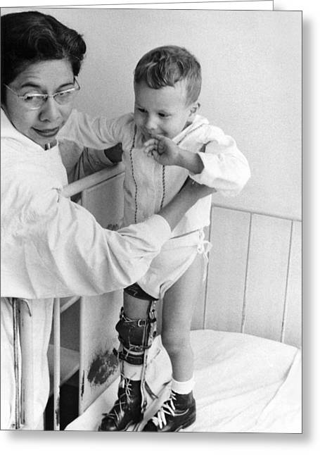 Child In Polio Ward Greeting Card