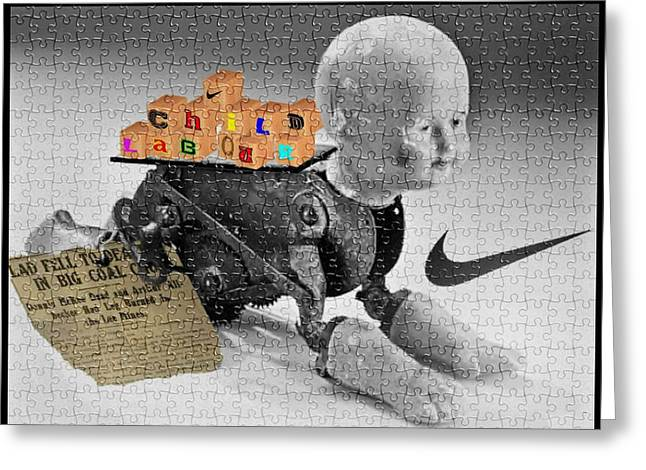 Child Labour Greeting Card by Liggyzighat