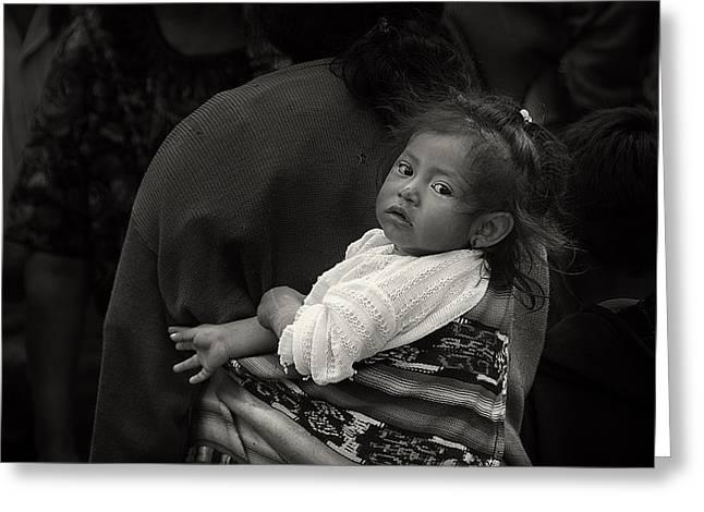 Child Of Chichicastenango Greeting Card