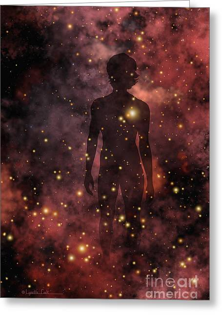 Child Of The Cosmos Greeting Card by Lynette Cook