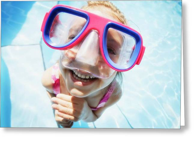 Child Wearing Goggles Greeting Card