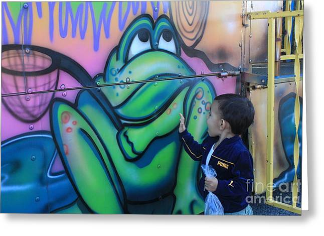 Child With Graffiti Greeting Card