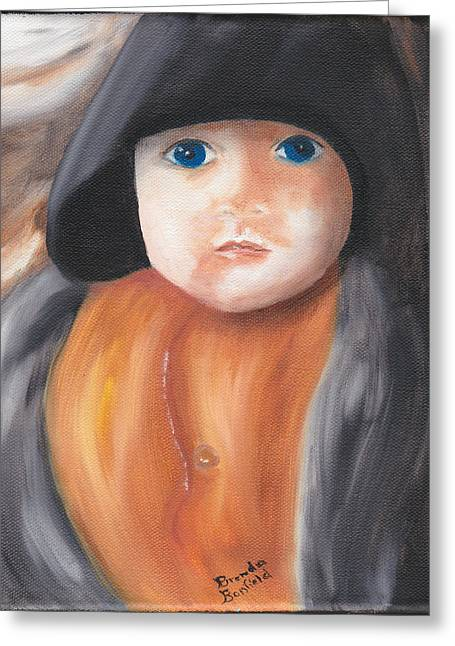 Child With Hood Greeting Card