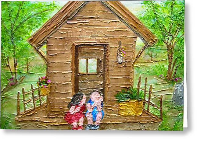 Childhood Retreat Greeting Card by Jan Wendt