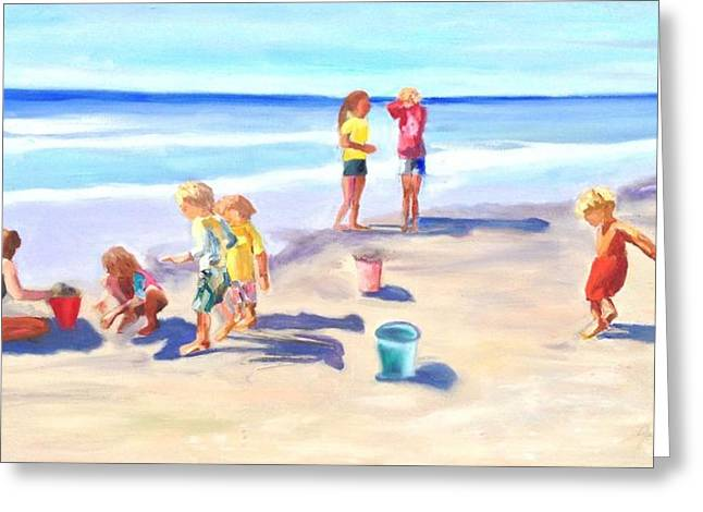 Children At The Beach Greeting Card