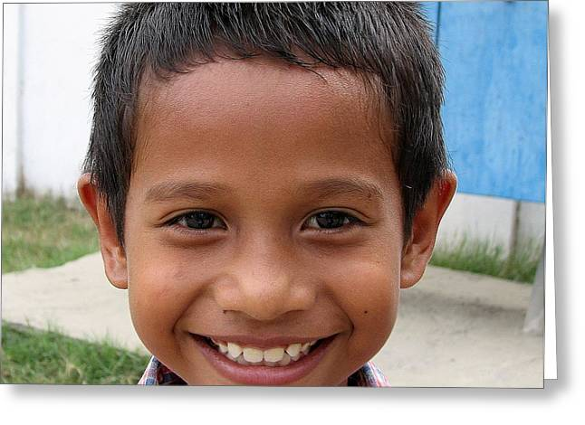 Children Faces Of East Timor Greeting Card