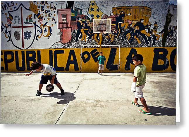 Children From La Boca Greeting Card