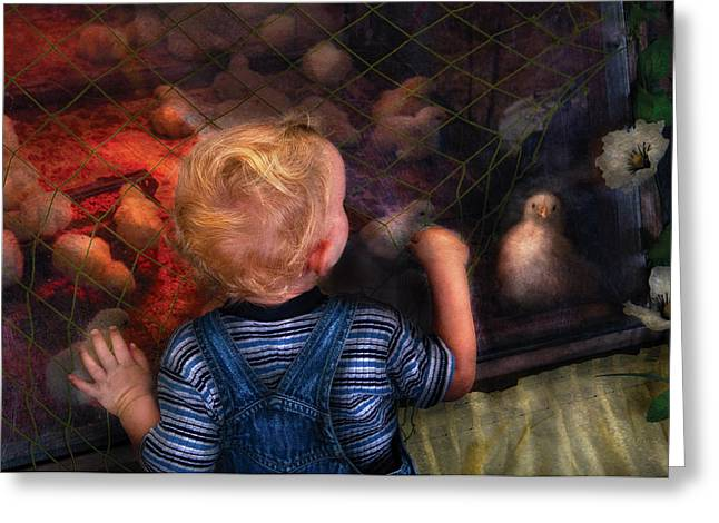 Children - Look At The Baby Greeting Card by Mike Savad