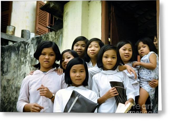 Children Of Hope Greeting Card by Mel Steinhauer