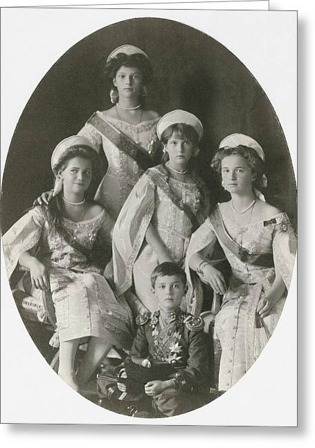 Children Of Nicholas II Greeting Card by Granger