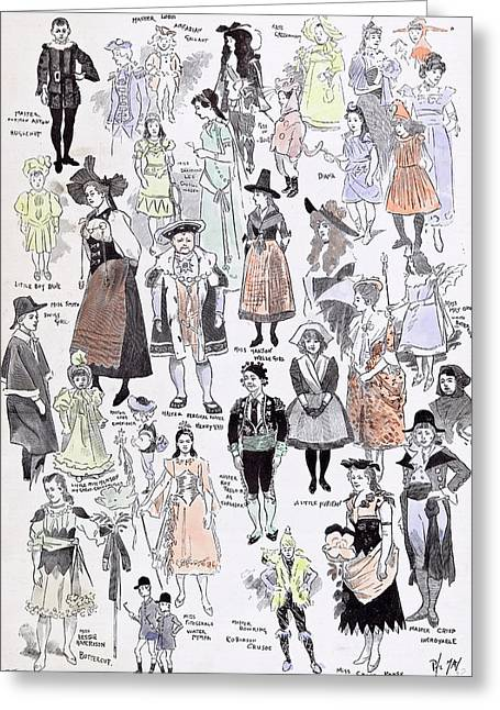 Childrens Fancy Dress At The Mansion House 1892 Mastor Greeting Card