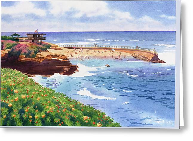 Children's Pool In La Jolla Greeting Card