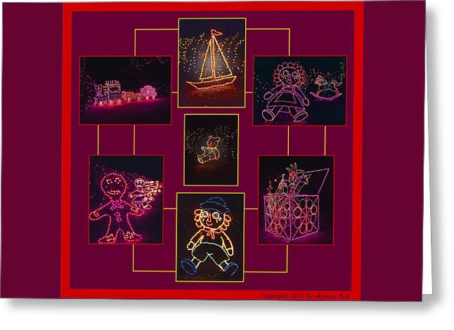 Children's Toys In Lights Poster Greeting Card by Marian Bell