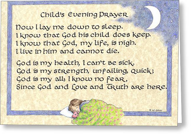 Child's Evening Prayer Greeting Card