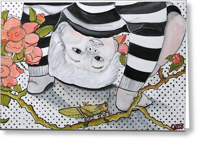 Child's Pose Greeting Card by Darlene Graeser