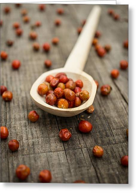 Chile Chiltepin Greeting Card by Aged Pixel