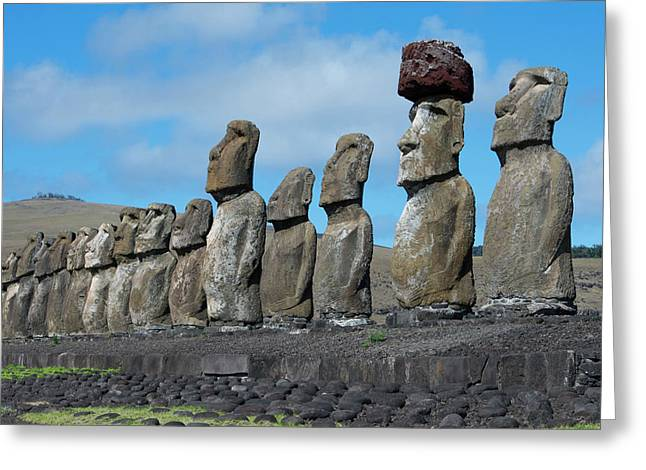 Chile, Easter Island, Hanga Nui Greeting Card