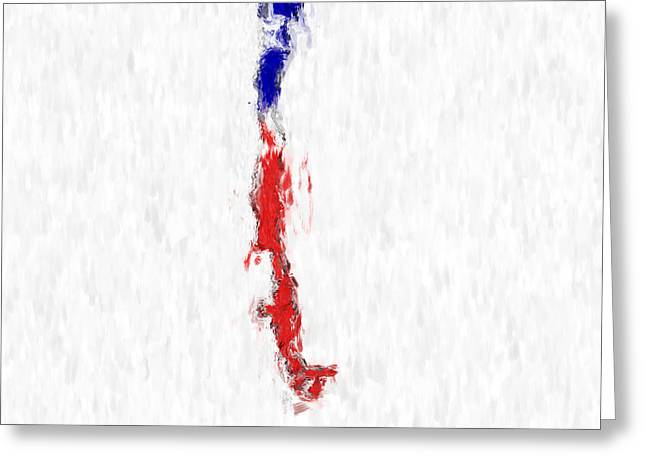 Chile Painted Flag Map Greeting Card by Antony McAulay