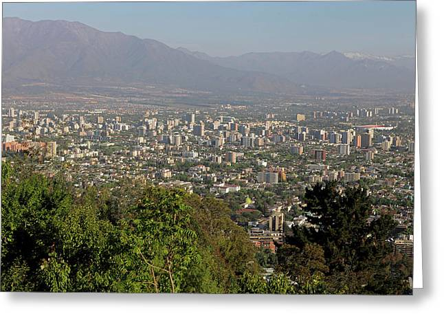 Chile, Santiago Santiago From San Greeting Card by Kymri Wilt