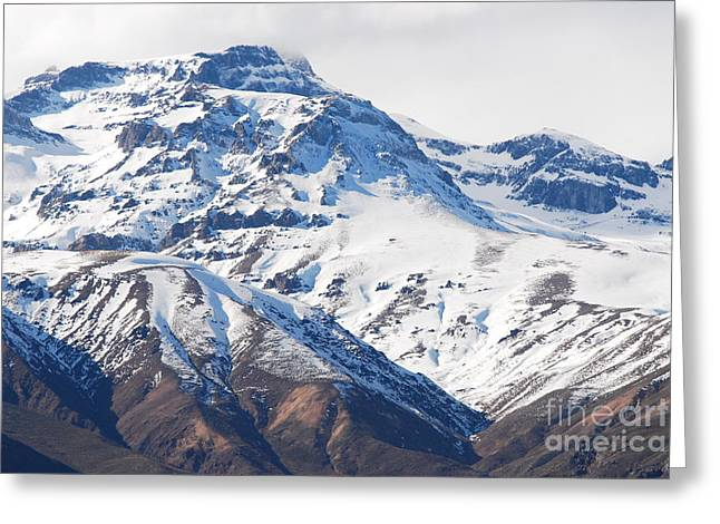 Chilean Andes Greeting Card by Susan Hernandez