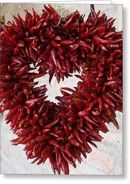 Greeting Card featuring the photograph Chili Pepper Heart by Kerri Mortenson