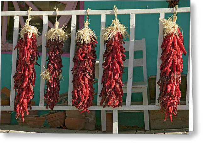 Chili Peppers On Mescalero Apache Greeting Card