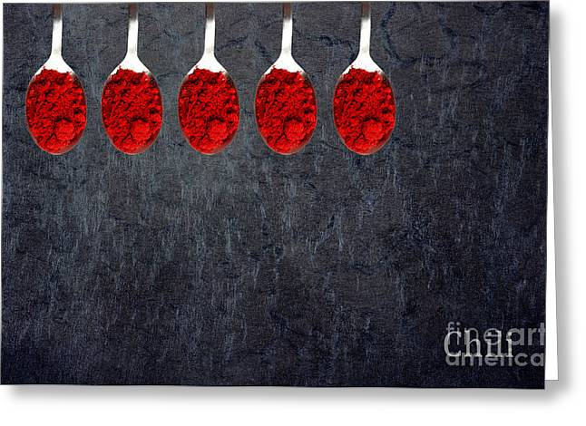 Chili Powder  Greeting Card by Aimelle