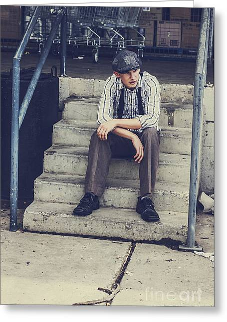 Chilled Out Retro Fashion Model  Greeting Card by Jorgo Photography - Wall Art Gallery
