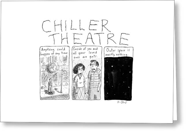 Chiller Theatre -- Scary Thoughts That Parody Greeting Card by Roz Chast
