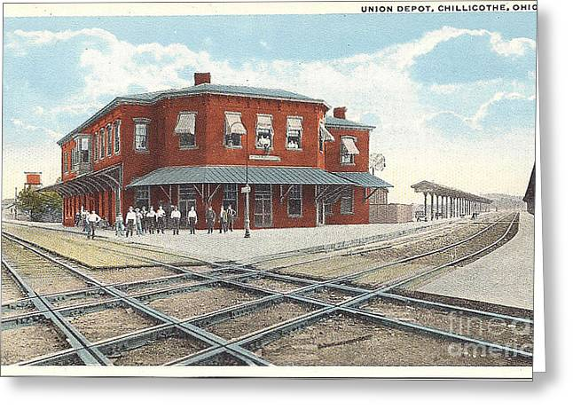 Chillicothe Ohio Railroad Depot Postcard Greeting Card