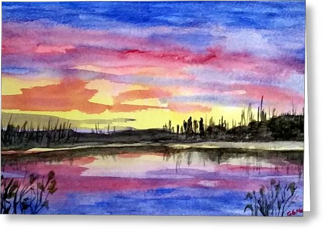 Chilly Morning Sunrise Greeting Card