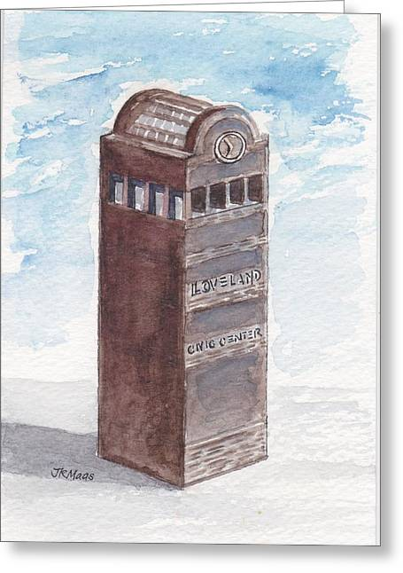 Chilson Clock Tower Greeting Card by Julie Maas