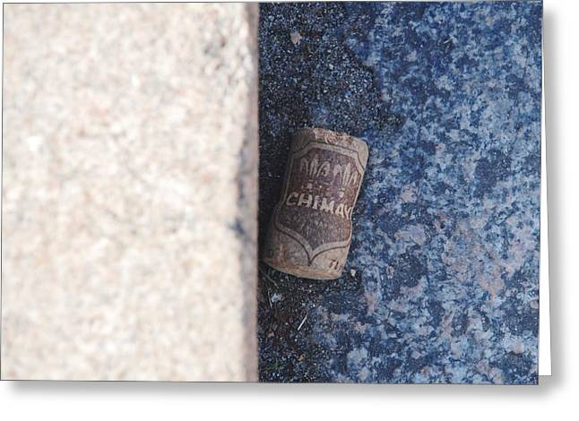 Chimay Wine Cork Greeting Card by Rob Hans