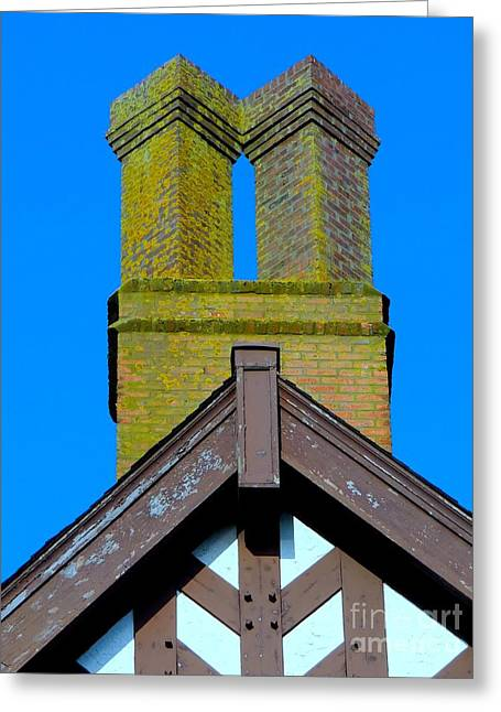 Chimney Abstract Greeting Card by Ed Weidman