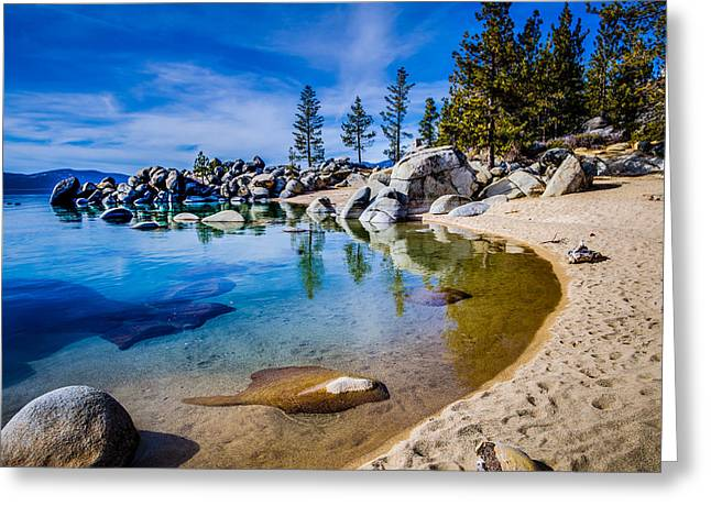 Chimney Beach Lake Tahoe Shoreline Greeting Card