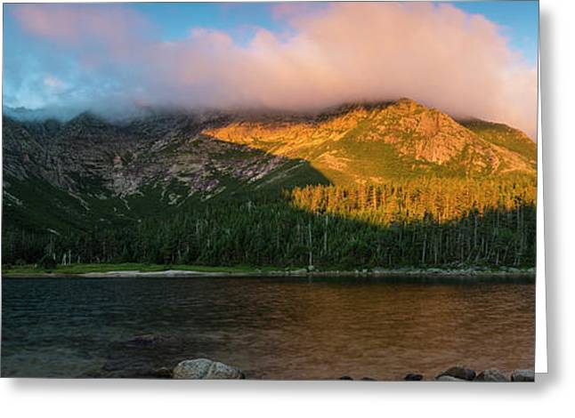 Chimney Pond And Mount Katahdin Greeting Card