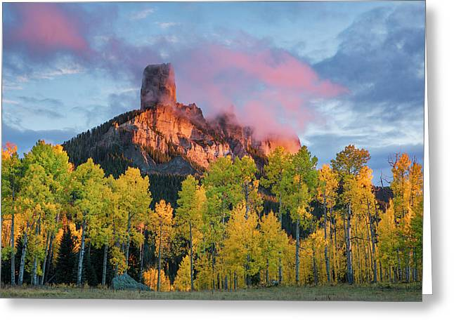 Chimney Rock At Sunset, From Owl Creek Greeting Card
