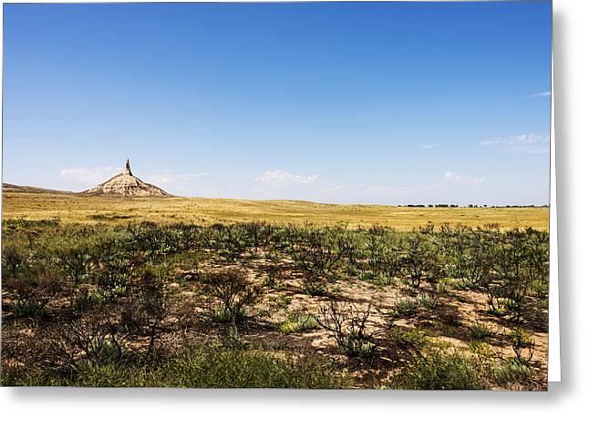Chimney Rock - Bayard Nebraska Greeting Card by Brian Harig