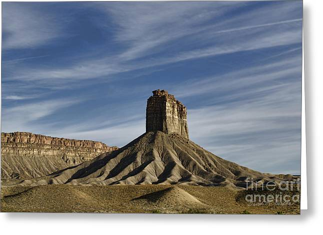Chimney Rock Butte Sw Co Greeting Card by Dave Gordon