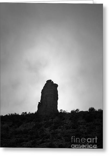 Chimney Rock IIi Greeting Card by Dave Gordon