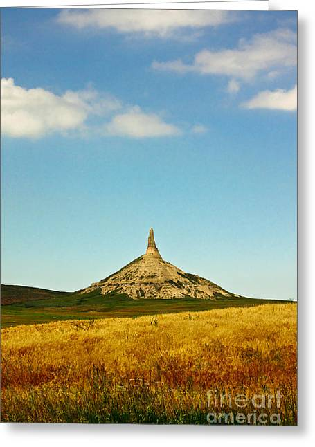 Chimney Rock Nebraska Greeting Card by Robert Frederick