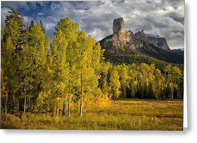 Chimney Rock San Juan Nf Colorado Img 9722 Greeting Card